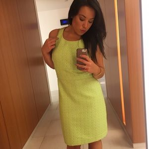 Neon Green tweed dress